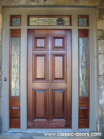 6 Panel Door w segmented transom