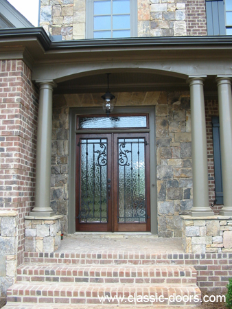 Solid Mahogany Front Entry Doors And Garden Tub Windows
